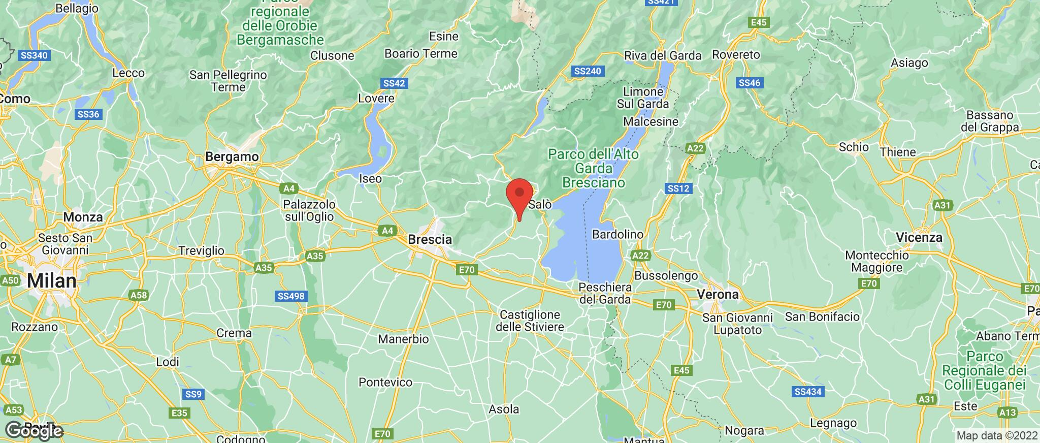 Map showing the location of Limone
