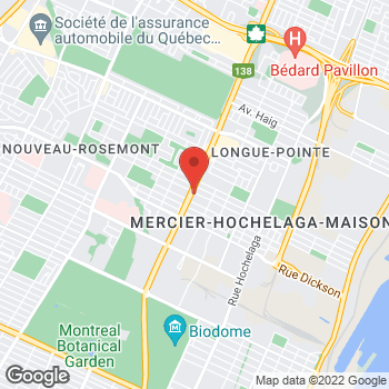 Map of Tim Hortons at 5900 Rue Sherbrooke Est, Montreal, QC H1N 1B5