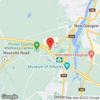 Map of Tim Hortons at 750 Westville Rd, New Glasgow, NS B2H 2J8