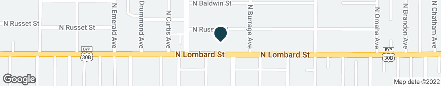Google Map of2829 N LOMBARD ST