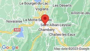 Carte de localisation du centre de contrôle technique CHAMBERY