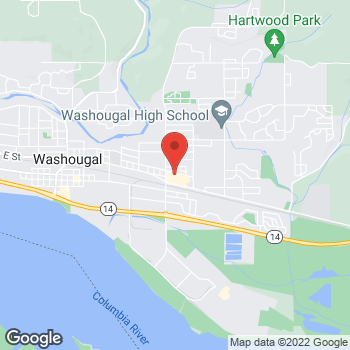 Map of Rite Aid at 3307 Evergreen Way, Washougal, WA 98671