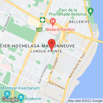 Map of Tim Hortons at 6765 Rue Hochelaga, Montreal, QC H1N 1Y2