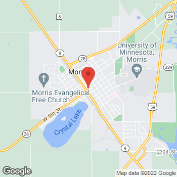 Map of Pizza Ranch at 7 E 5th St., Morris, MN 56267