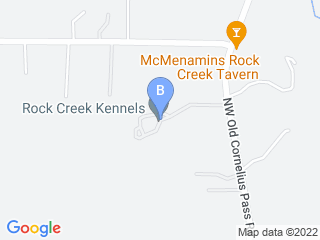Map of Rock Creek Kennels Dog Boarding options in Hillsboro | Boarding