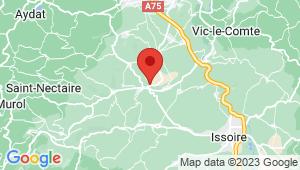 Carte de localisation du centre de contrôle technique CHAMPEIX