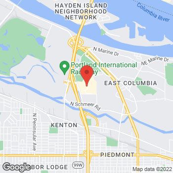 Map of Guitar Center Lessons at 1147 N Hayden Meadows Dr, Portland, OR 97217