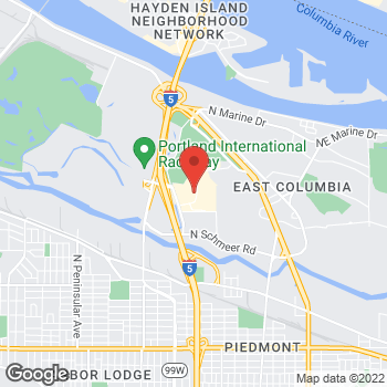Map of Guitar Center at 1147 N Hayden Meadows Dr, Portland, OR 97217