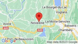 Carte de localisation du centre de contrôle technique NOVALAISE