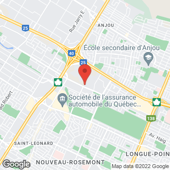 Map of Tim Hortons at 7295 Boul Des Galeries-d' Anjou, Anjou, QC H1M 2W2