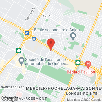 Map of Tim Hortons at 6270 Boul Louis-h Lafontaine, Montreal, QC H1M 1S8