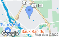 Map of Sauk Rapids, MN