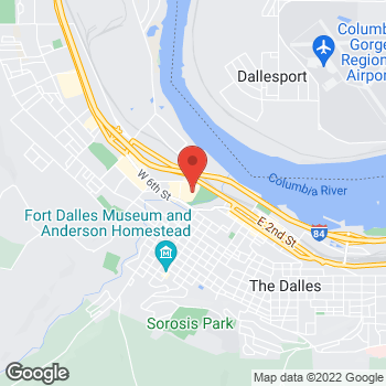 Map of Staples at 460 Mount Hood Street, The Dalles, OR 97058