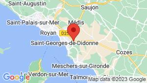 Carte de localisation du centre de contrôle technique SAINT GEORGES DE DIDONNE