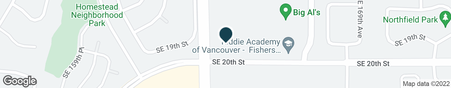 Google Map of1905 SE 164TH AVE