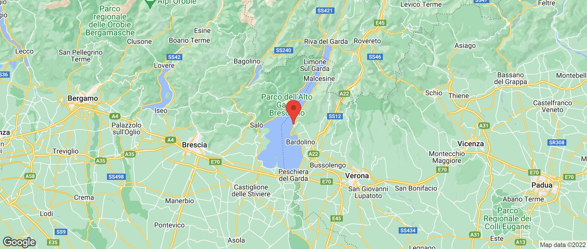 Map showing the location of Torri Del Benaco