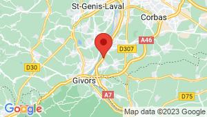 Carte de localisation du centre de contrôle technique TERNAY