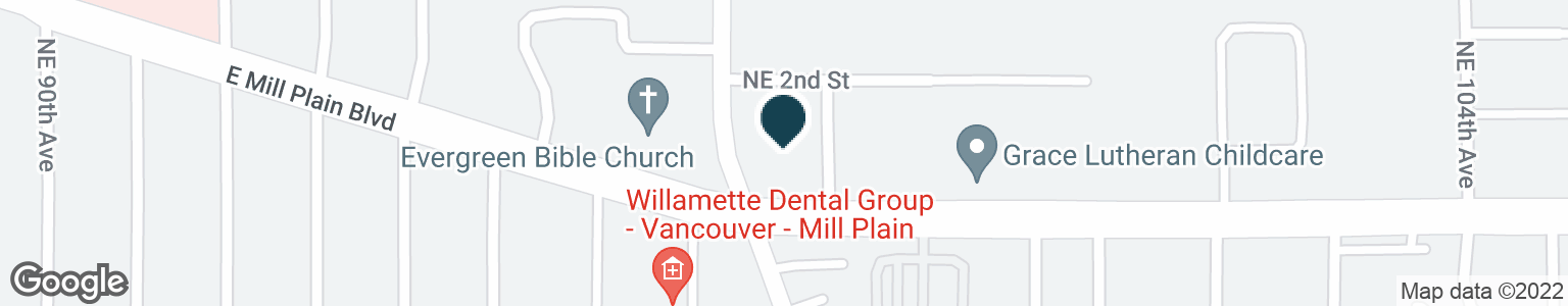 Google Map of9714 E MILL PLAIN BLVD
