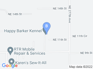 Map of Happy Barker Kennel Dog Boarding options in Camas | Boarding