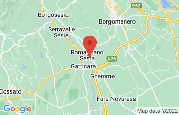 Map of Romagnano Sesia