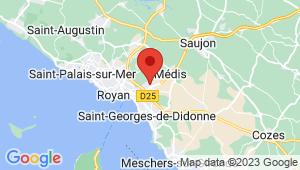Carte de localisation du centre de contrôle technique ROYAN