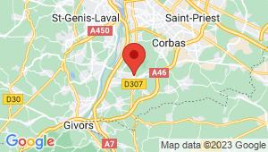 Carte de localisation du centre de contrôle technique SAINT SYMPHORIEN D OZON