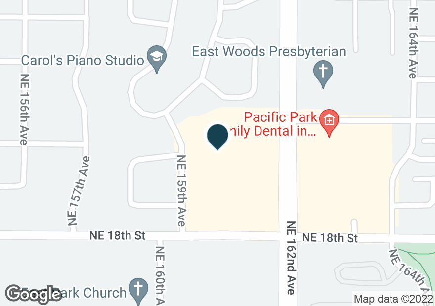 Google Map of1900 NE 162ND AVE