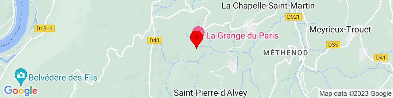 Google Map of 45.63972, 5.73742