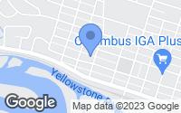 Map of Columbus, MT