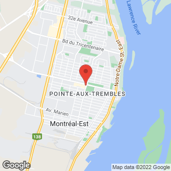 Map of Tim Hortons at 1220 Boul St Jean-baptiste, Montreal, QC H1B 4A2