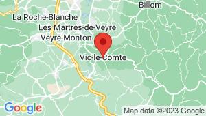 Carte de localisation du centre de contrôle technique VIC LE COMTE