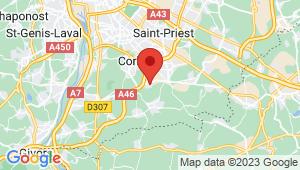 Carte de localisation du centre de contrôle technique CHAPONNAY