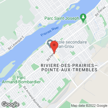 Map of Tim Hortons at 12451 Boul Rudolphe-forget, Montreal, QC H1E 0A2