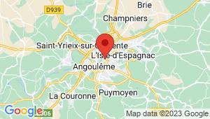 Carte de localisation du centre de contrôle technique ANGOULEME