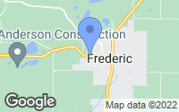 Map of Frederic, WI