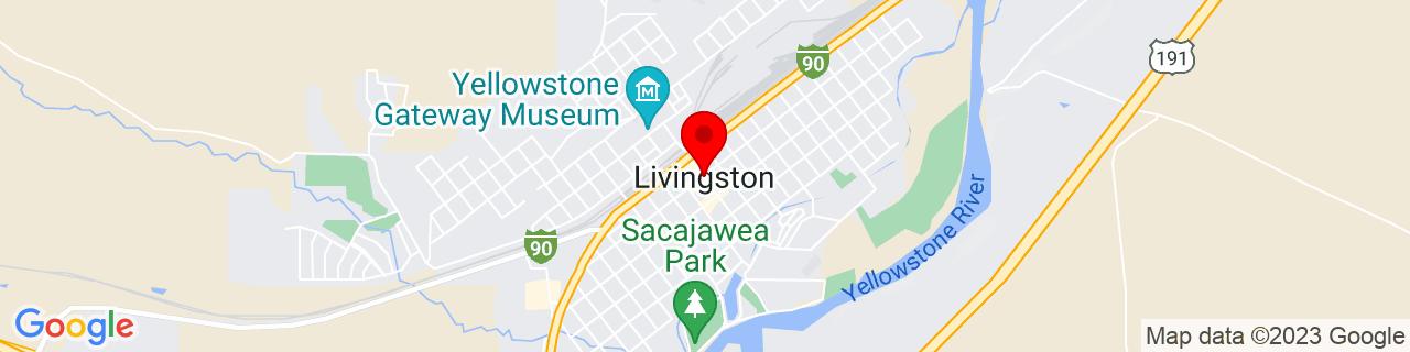 Google Map of 45.6614105, -110.5599556