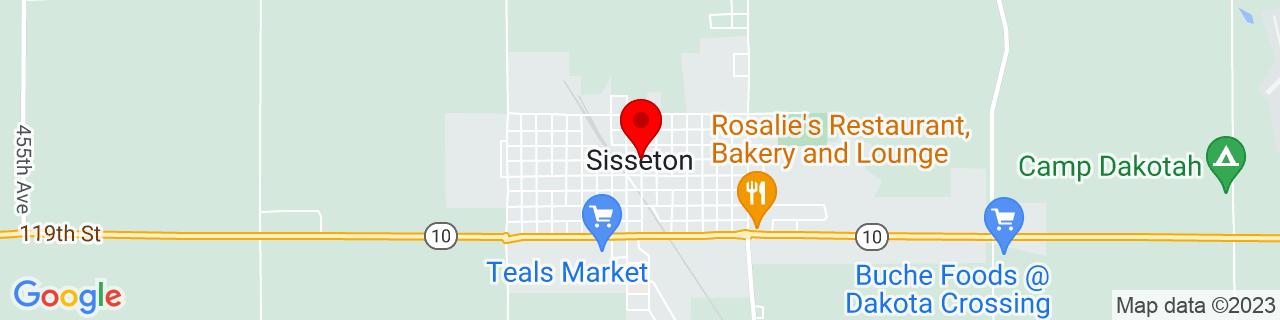 Google Map of 45.664722222222224, -97.04972222222221