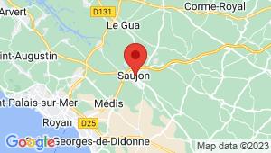Carte de localisation du centre de contrôle technique SAUJON