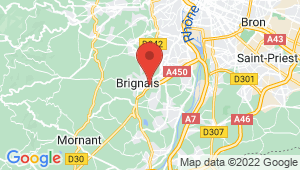 Carte de localisation du centre de contrôle technique BRIGNAIS
