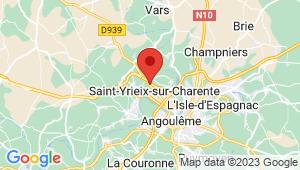 Carte de localisation du centre de contrôle technique Saint Yrieix sur Charente
