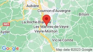 Carte de localisation du centre de contrôle technique VEYRE MONTON