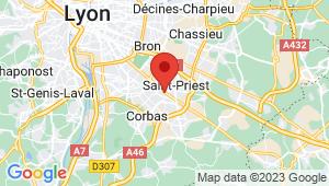 Carte de localisation du centre de contrôle technique SAINT PRIEST