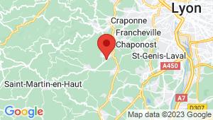 Carte de localisation du centre de contrôle technique THURINS