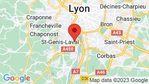 Carte de localisation du centre de contrôle technique PIERRE BENITE