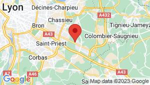 Carte de localisation du centre de contrôle technique ST BONNET DE MURE