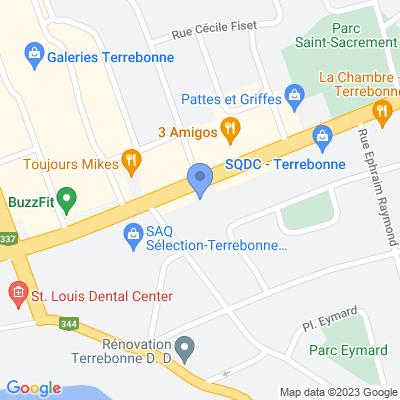 Prestige Barber Lounge - Terrebonne Map