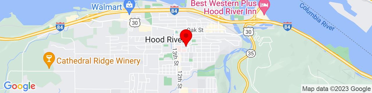 Google Map of 45.7053101, -121.5217927