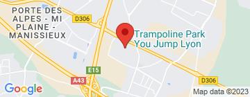 Carte Trampoline Park Lyon - Petit Paumé