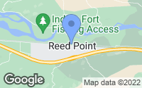 Map of Reed Point, MT
