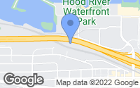 Map of Hood River, OR